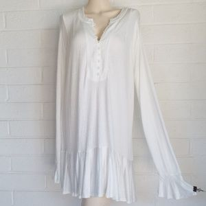 NWT Free People Large ivory Your Girl mini dress